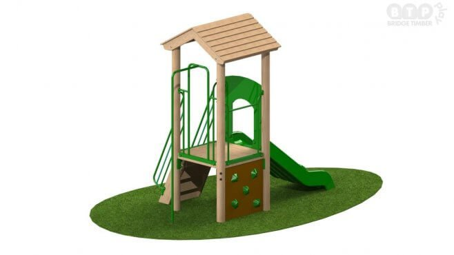 Single Deck Play Tower with Roof