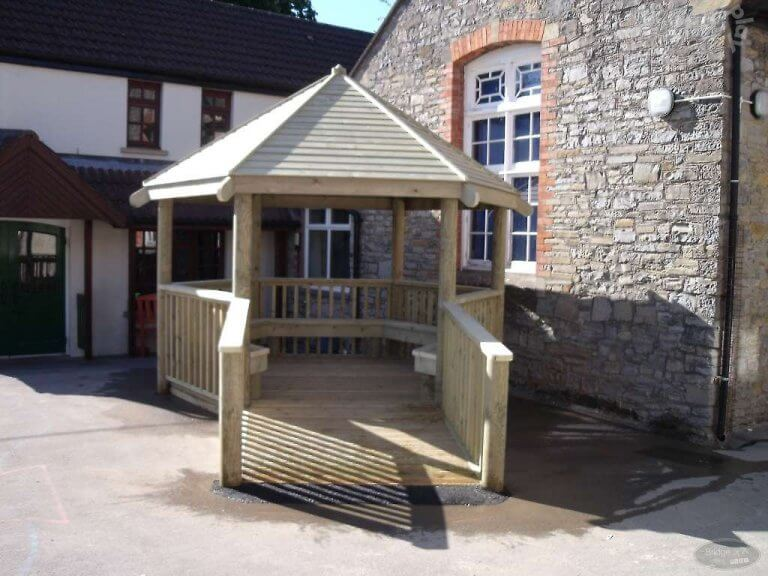 Compact School Playground Hexagonal Shelter