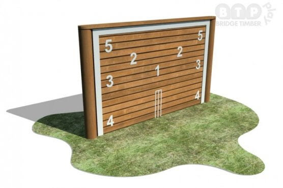 Ball Wall with Number Target and Cricket