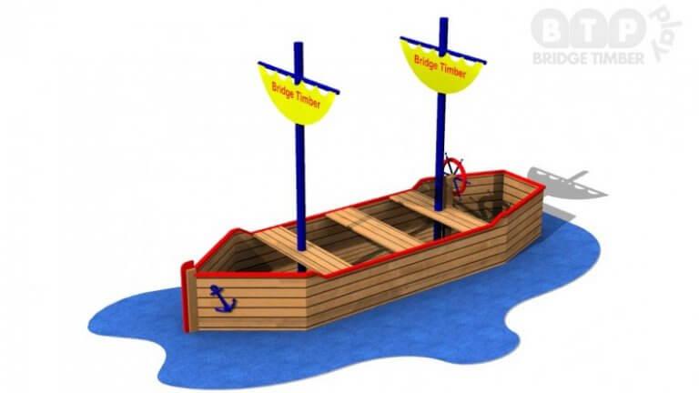 Double Mast Large Play Ship