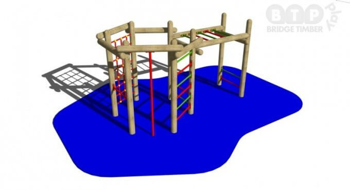 Hexagonal Climber and Monkey Bars