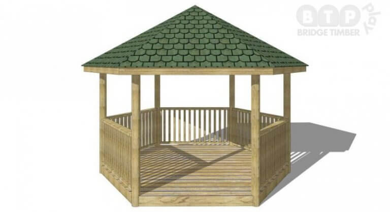 Hexagonal Outdoor Playground Shelter