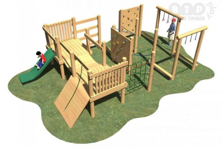 Square Playground Climbing System