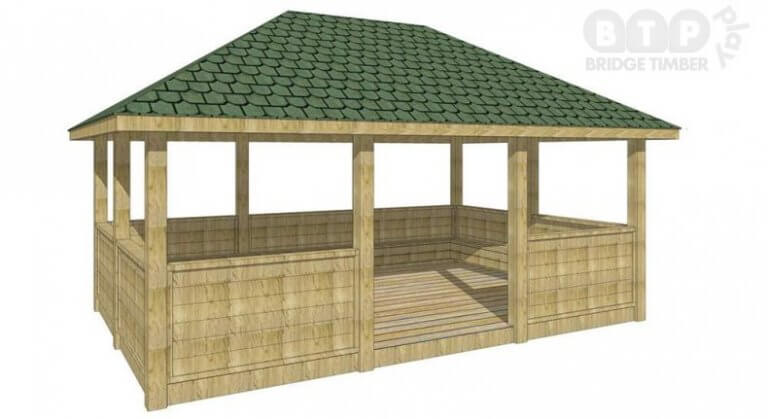 Traditional Roof Outdoor School Shelter