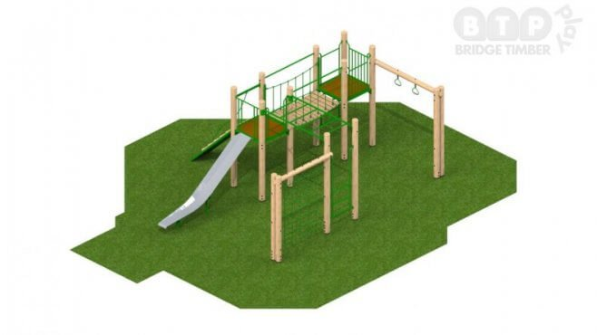 Sherwood Timber Climbing Frame
